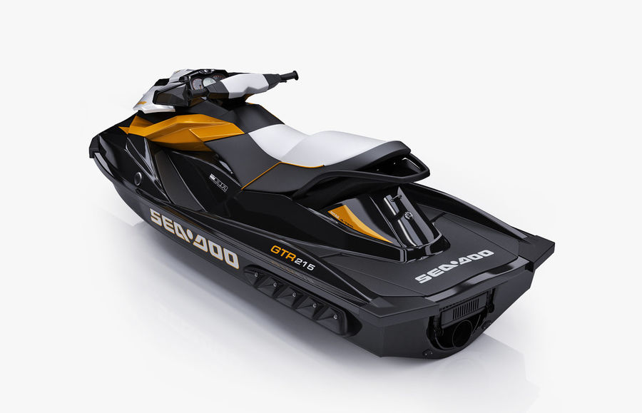 Sea-Doo GTI 215 and trailer royalty-free 3d model - Preview no. 21