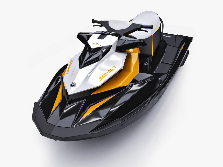 Sea-Doo GTI 215 and trailer royalty-free 3d model - Preview no. 22