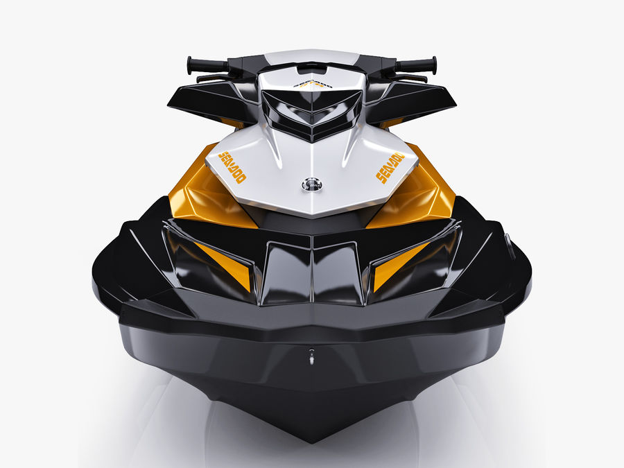 Sea-Doo GTI 215 and trailer royalty-free 3d model - Preview no. 23