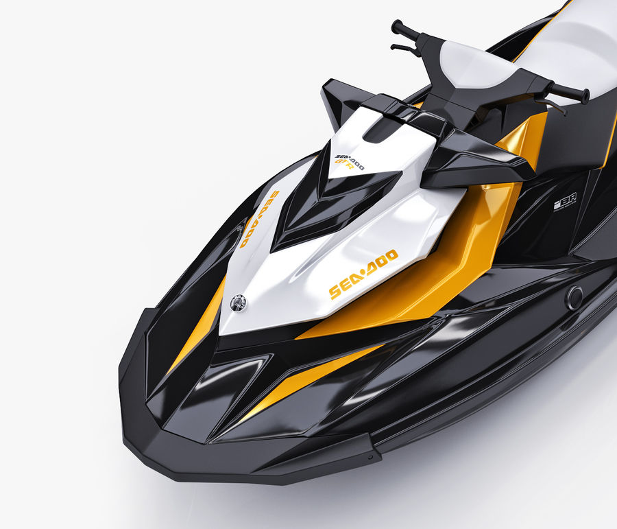 Sea-Doo GTI 215 and trailer royalty-free 3d model - Preview no. 28