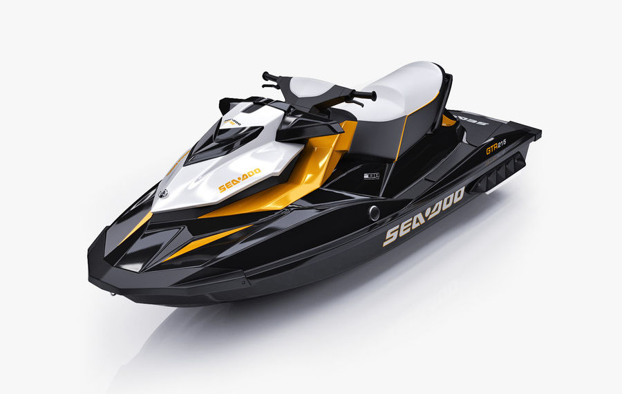 Sea-Doo GTI 215 and trailer royalty-free 3d model - Preview no. 19