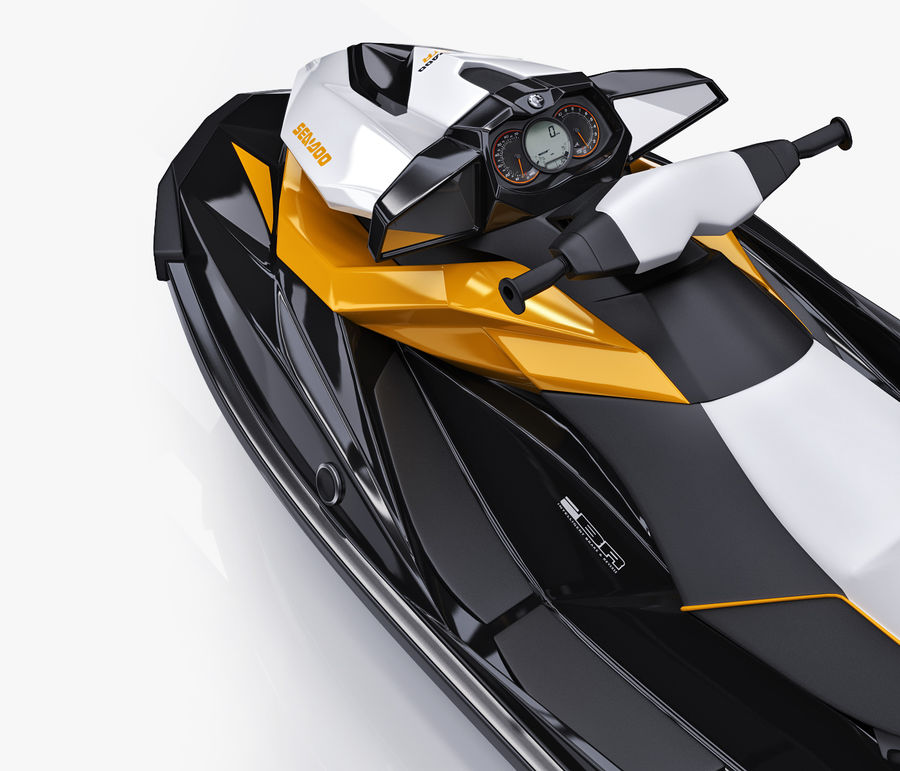 Sea-Doo GTI 215 and trailer royalty-free 3d model - Preview no. 29