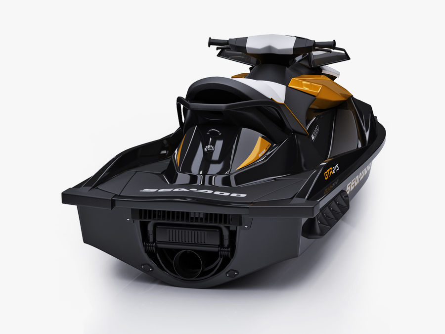 Sea-Doo GTI 215 and trailer royalty-free 3d model - Preview no. 24