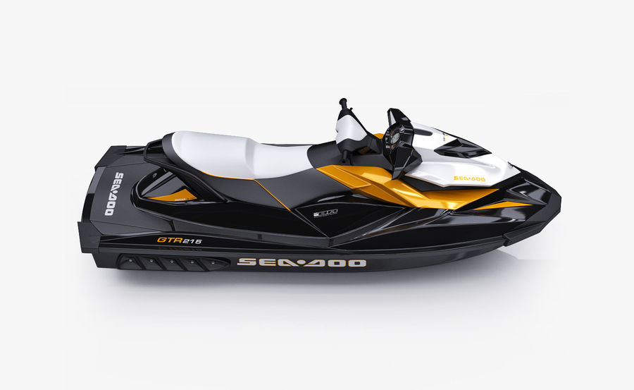 Sea-Doo GTI 215 and trailer royalty-free 3d model - Preview no. 27