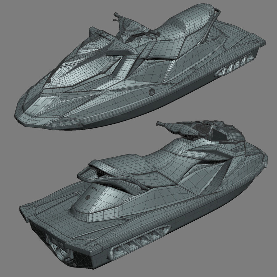 Sea-Doo GTI 215 and trailer royalty-free 3d model - Preview no. 32