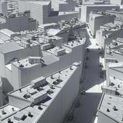 Cidade de Nova York, Tóquio, Londres 3d model