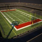 Amerikaans voetbalstadion 3d model