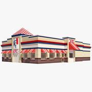 KFC Restaurant House 3d model