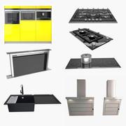 Elettrodomestico da cucina e infissi 3d model