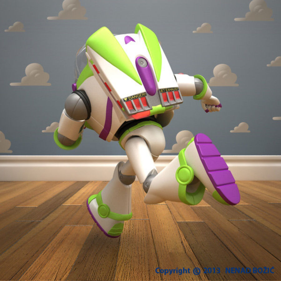 Buzz Lightyear Rigged royalty-free 3d model - Preview no. 3