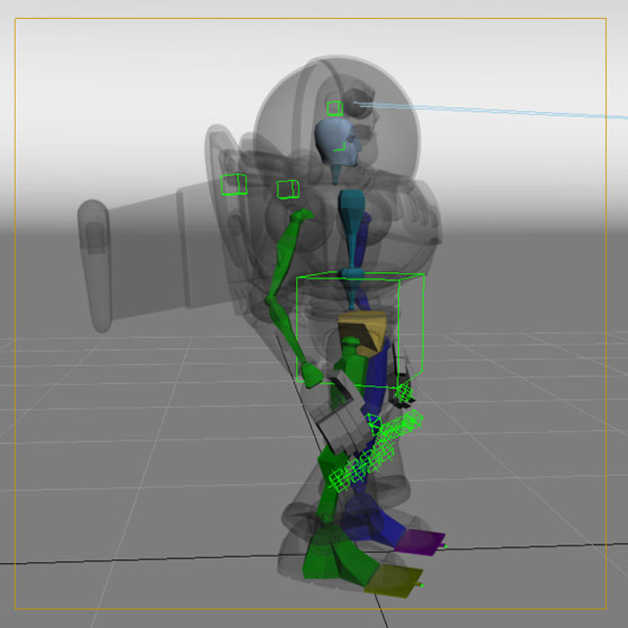Buzz Lightyear Rigged royalty-free 3d model - Preview no. 8