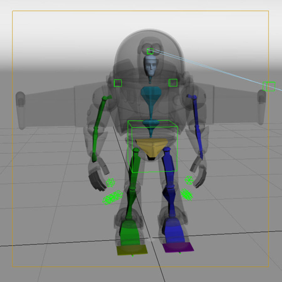 Buzz Lightyear Rigged royalty-free 3d model - Preview no. 7