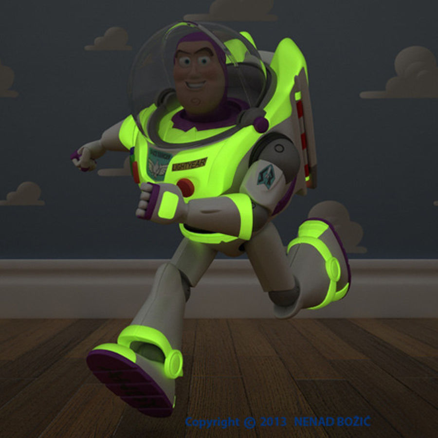 Buzz Lightyear Rigged royalty-free 3d model - Preview no. 2