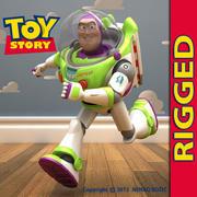 Buzz Lightyear opgetuigd 3d model