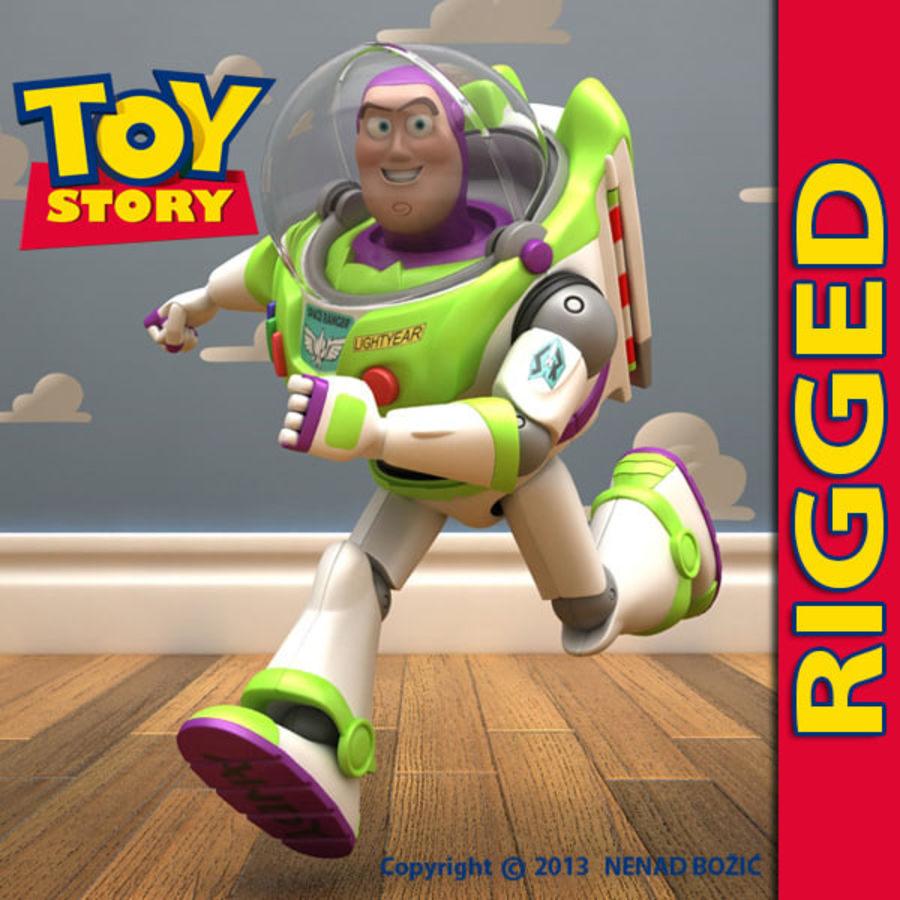 Buzz Lightyear Rigged royalty-free 3d model - Preview no. 1