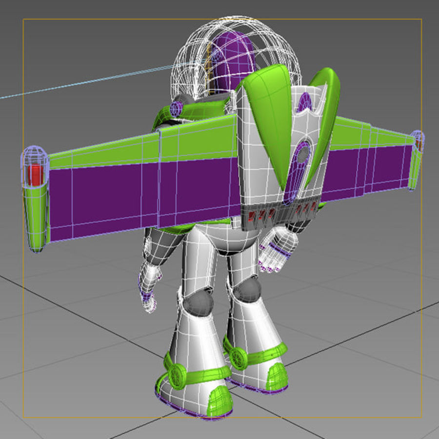 Buzz Lightyear Rigged royalty-free 3d model - Preview no. 11