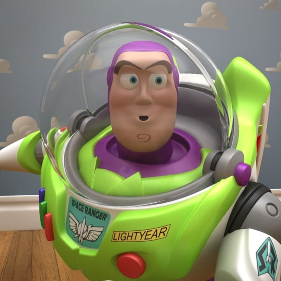 Buzz Lightyear Rigged royalty-free 3d model - Preview no. 18