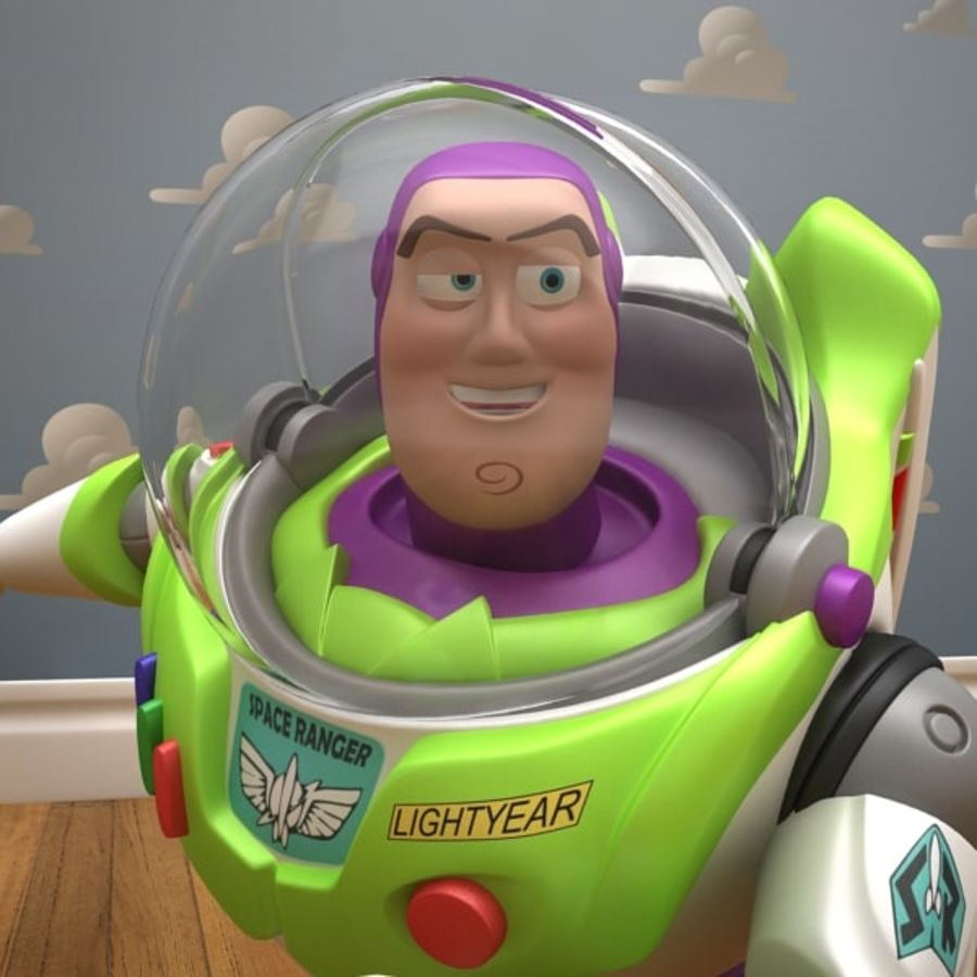 Buzz Lightyear Rigged royalty-free 3d model - Preview no. 15