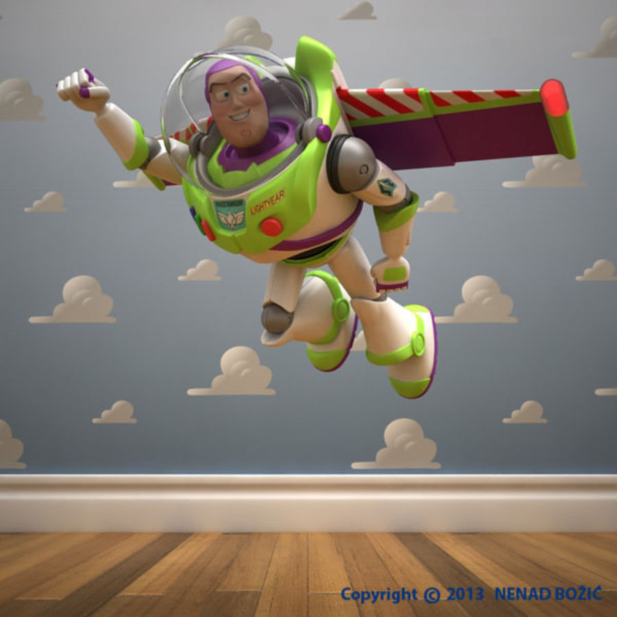 Buzz Lightyear Rigged royalty-free 3d model - Preview no. 6