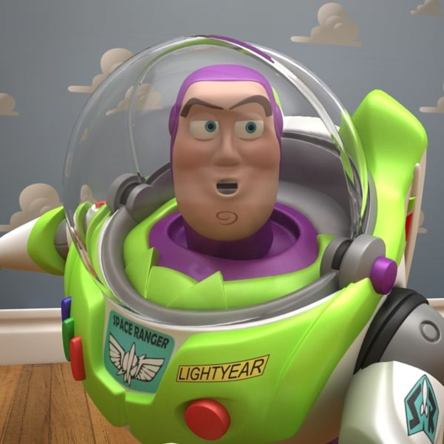Buzz Lightyear Rigged royalty-free 3d model - Preview no. 17