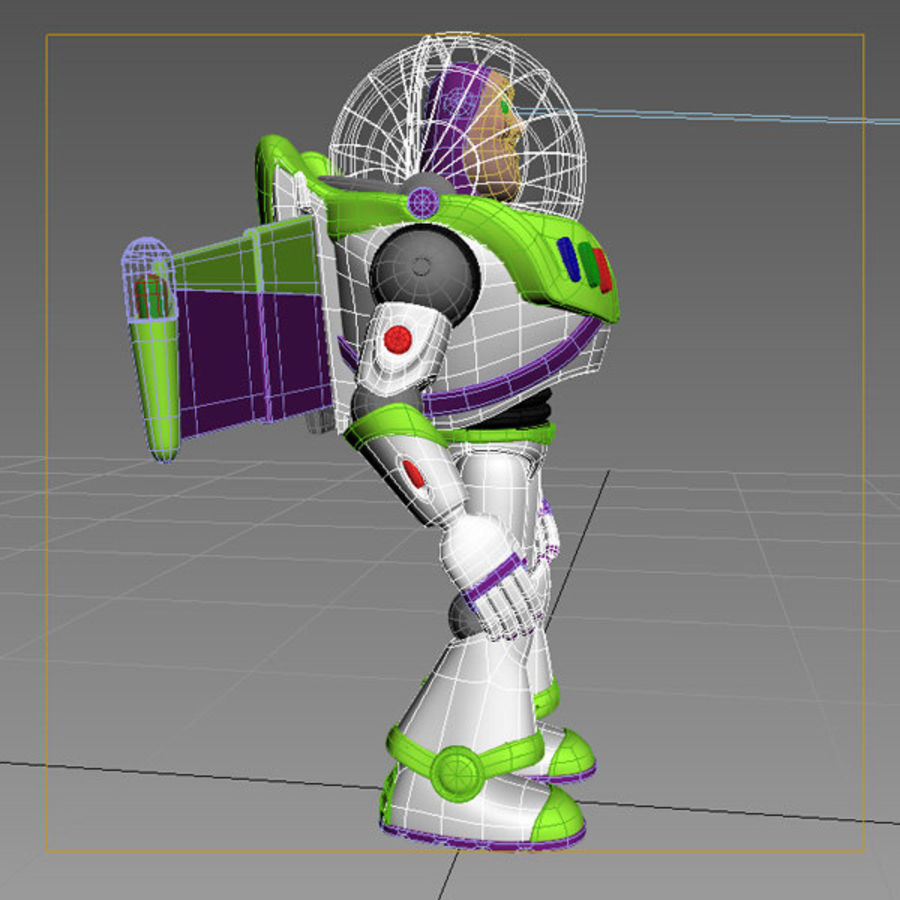 Buzz Lightyear Rigged royalty-free 3d model - Preview no. 10