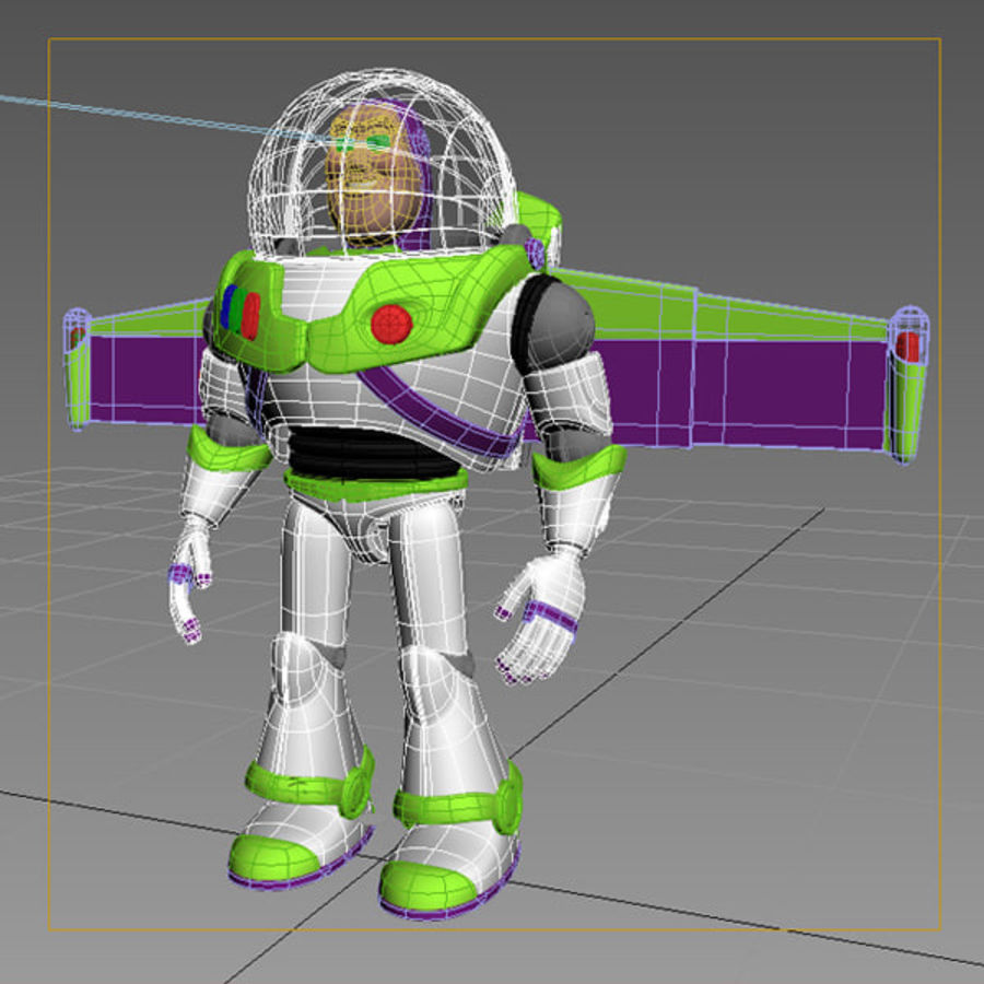 Buzz Lightyear Rigged royalty-free 3d model - Preview no. 9