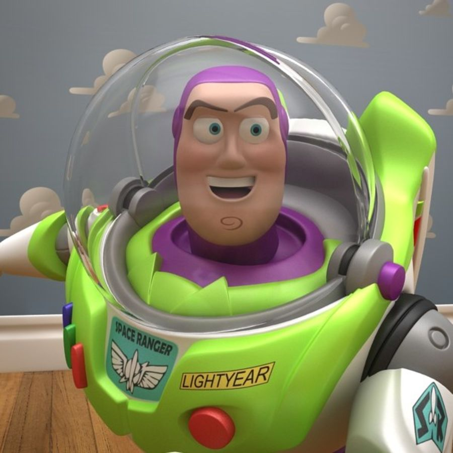 Buzz Lightyear Rigged royalty-free 3d model - Preview no. 13