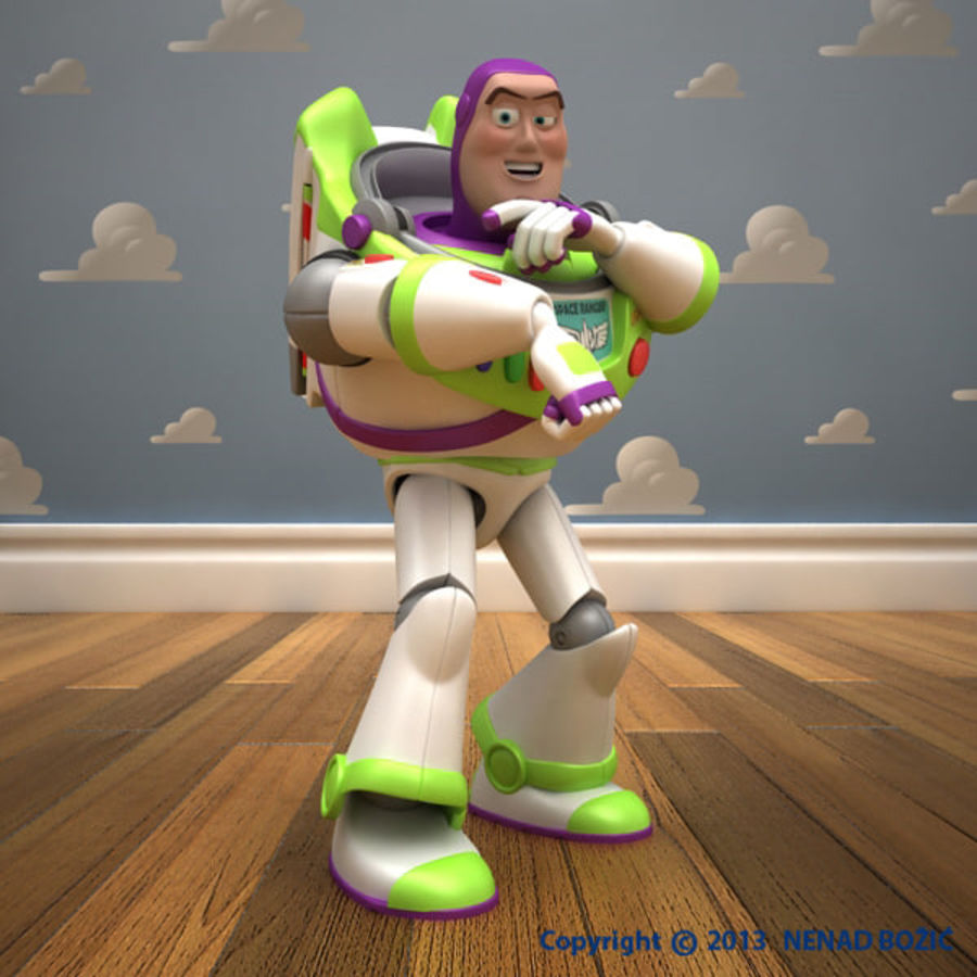 Buzz Lightyear Rigged royalty-free 3d model - Preview no. 4