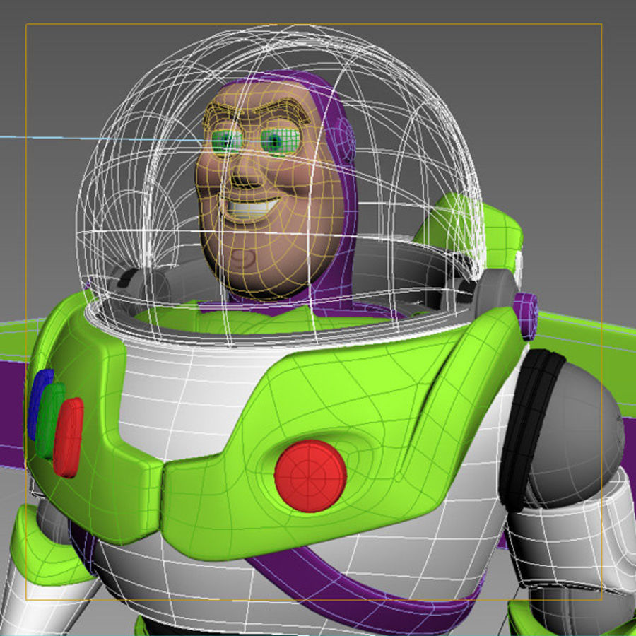 Buzz Lightyear Rigged royalty-free 3d model - Preview no. 12
