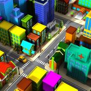 Cartoon City 1 3d model
