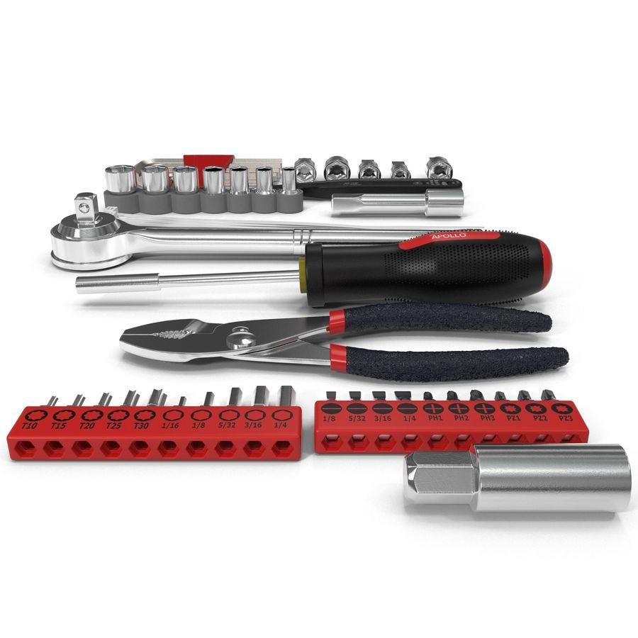 Precision Tools Set royalty-free 3d model - Preview no. 6