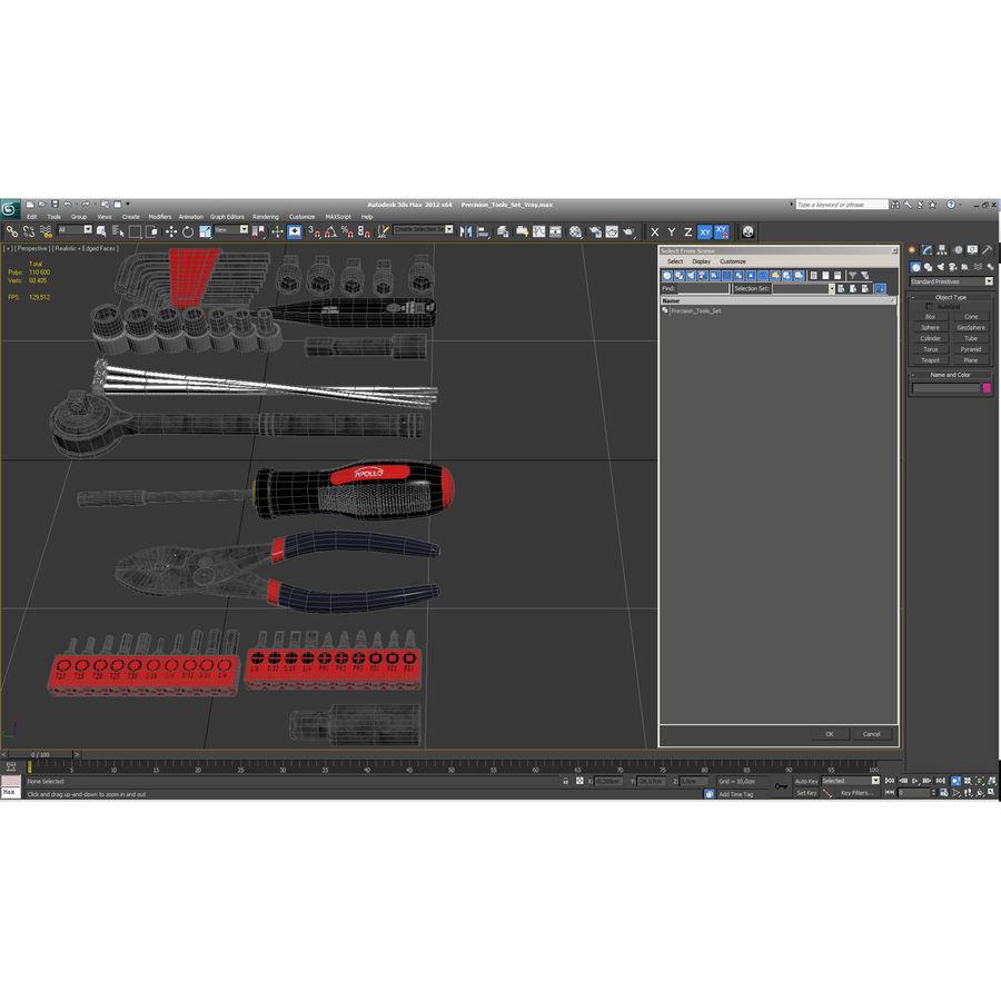 Precision Tools Set royalty-free 3d model - Preview no. 58