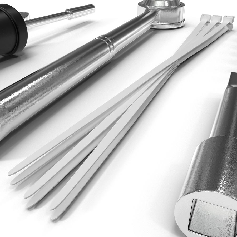 Precision Tools Set royalty-free 3d model - Preview no. 20