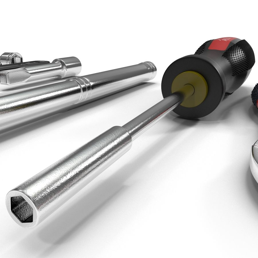 Precision Tools Set royalty-free 3d model - Preview no. 17