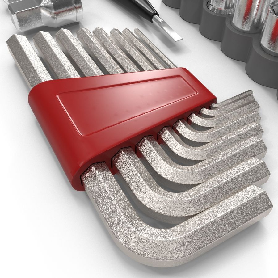 Precision Tools Set royalty-free 3d model - Preview no. 24