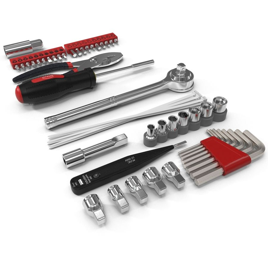 Precision Tools Set royalty-free 3d model - Preview no. 10