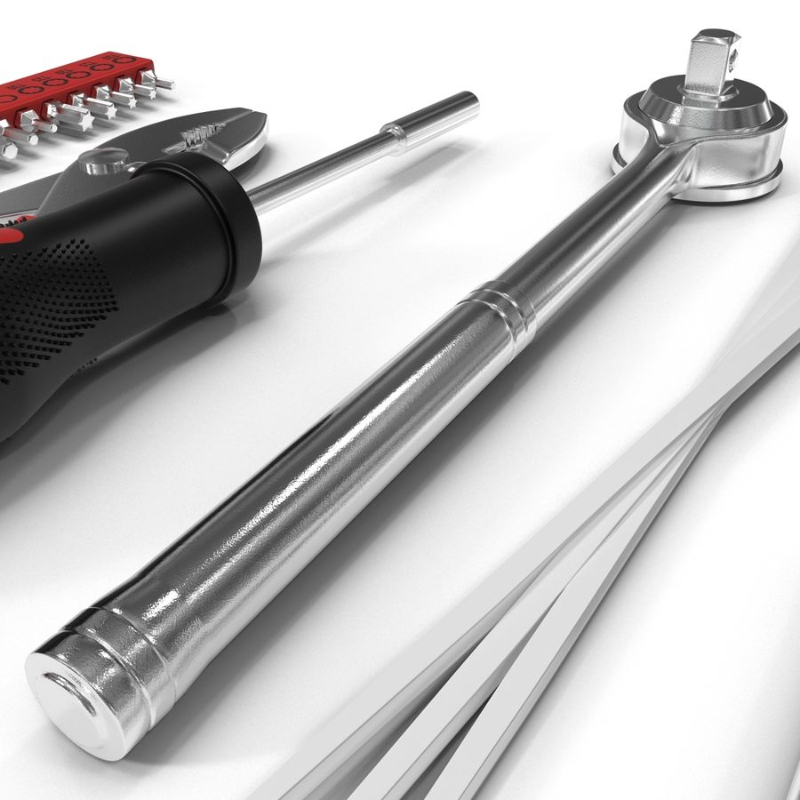 Precision Tools Set royalty-free 3d model - Preview no. 19