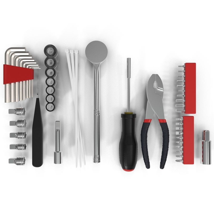 Precision Tools Set royalty-free 3d model - Preview no. 7