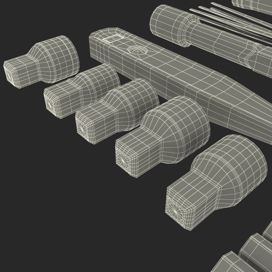 Precision Tools Set royalty-free 3d model - Preview no. 50