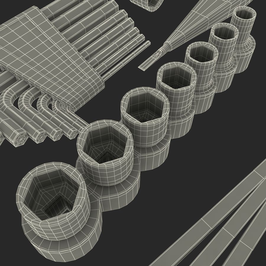 Precision Tools Set royalty-free 3d model - Preview no. 47