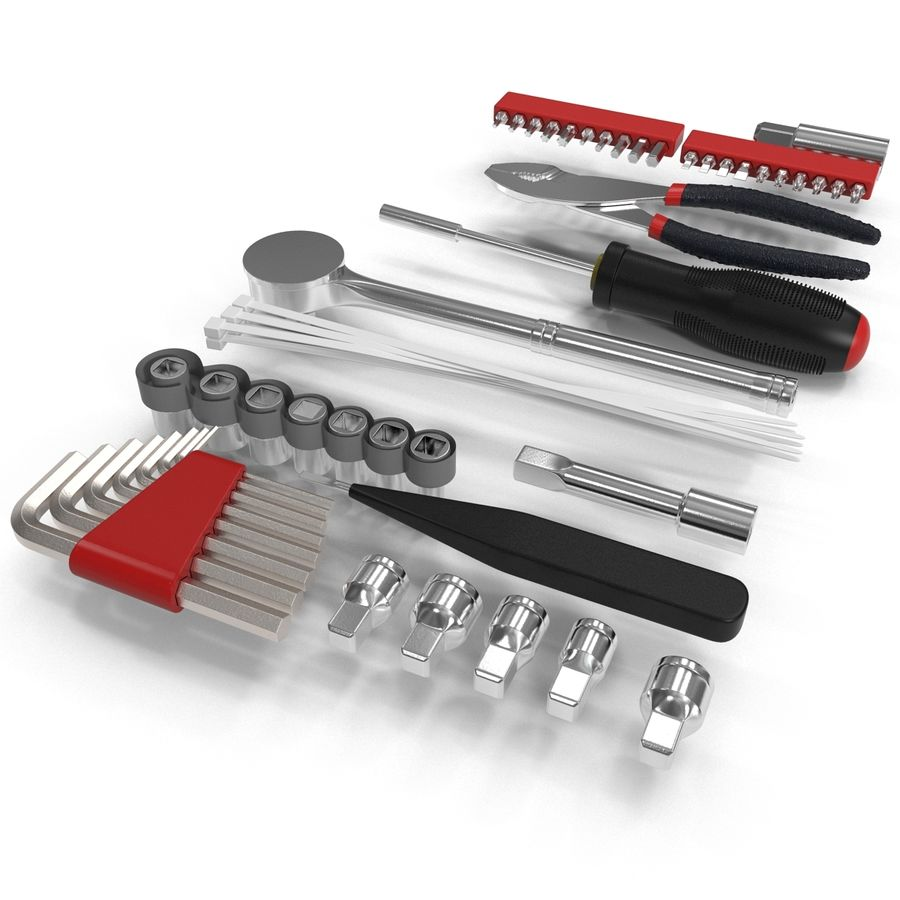 Precision Tools Set royalty-free 3d model - Preview no. 8