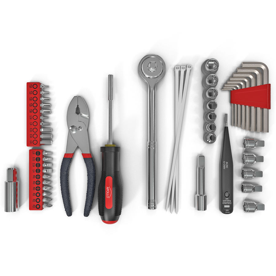 Precision Tools Set royalty-free 3d model - Preview no. 2