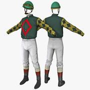 Jockey Kleidung 3d model