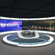 TV News Studio 2 3d model