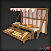 Low Poly Market Stall Brot 3d model
