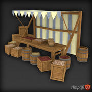 Low Poly Market Stall Seed 3d model