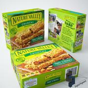 自然谷格兰诺拉麦片 3d model