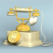 クラシック電話 3d model