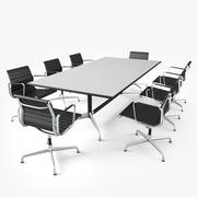 Мебель для конференц-зала 01 3d model