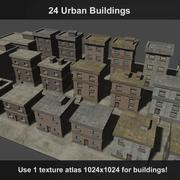 24 stedelijke gebouwen 3d model
